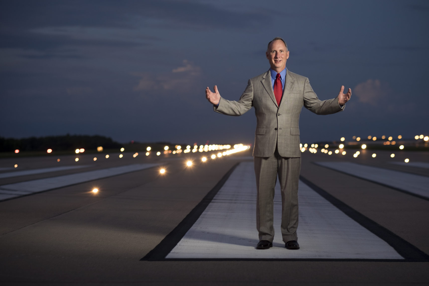 GSP CEO Dave Edwards shot on the runway in Greenville Spartanburg South Carolina